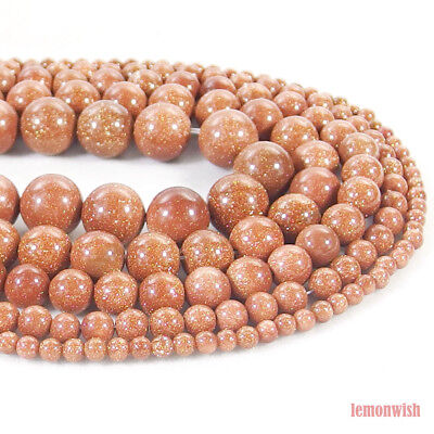 Golden Sand Jasper Stone Round Spacer Beads 15.5'' 2mm 3mm 4mm 6mm 8mm 10mm 12mm