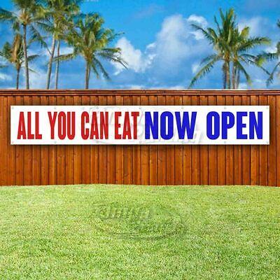 All You Can Eat Now Open Advertising Vinyl Banner Flag Sign Large Huge Xxl Size