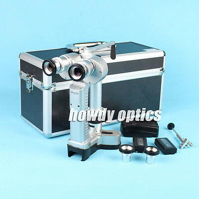Portable Slit Lamp Microscope Led Lamp With Aluminum Case 2 Batteries