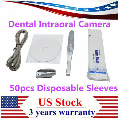 Dental Intraoral Oral Camera Usb Clear Imaging 50x Disposable Sleeves Md740 Us