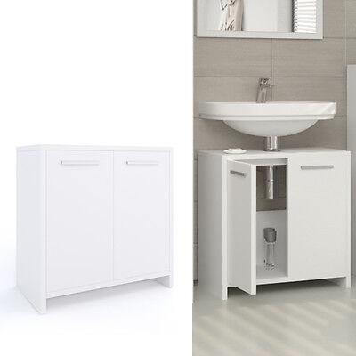 VICCO Waschbeckenunterschrank KIKO Weiß - Waschtisch Unterschrank Badschrank