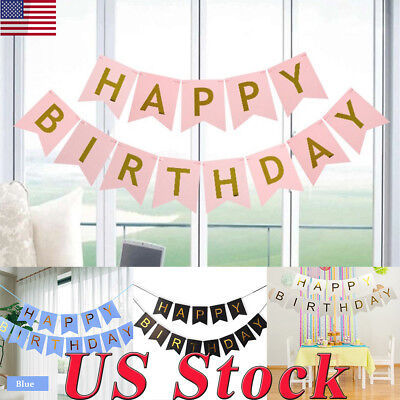 Party Flag Banners (Happy Birthday Flag Children Birthday Party Decoration Kid Happy Birthday)