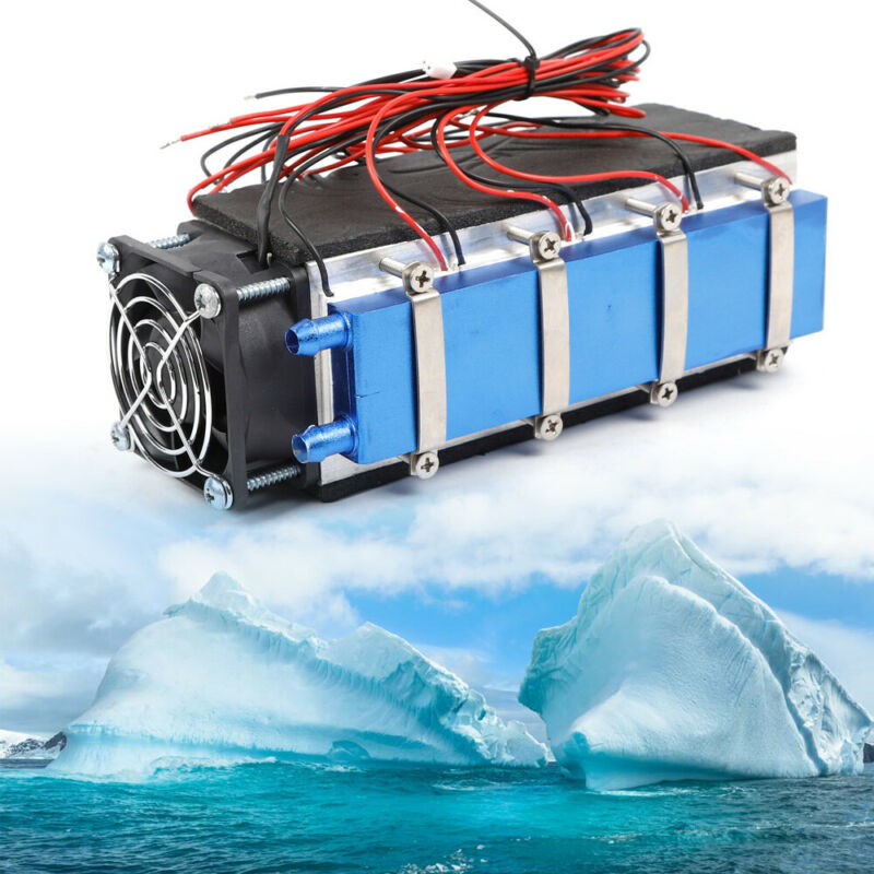 8 Chip DIY Thermoelectric Cooler Refrigeration Semiconductor Peltier Cooling 12V