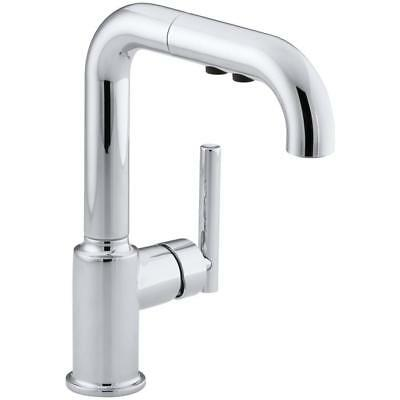 KOHLER Purist Single-Handle Pull-Out Sprayer Kitchen Faucet in Chrome 7506-CP