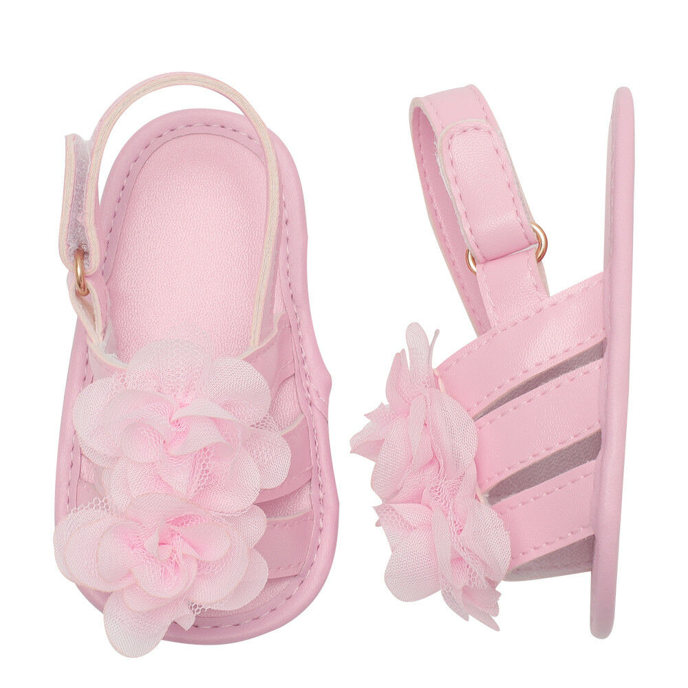 Infant Toddler Baby Shoes Girl Flower Sandals For Summer Soft Sole Non-Slip W4U2