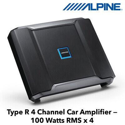 Alpine R-A60F - Type R 4 Channel Car Amplifier 100 Watts RMS...