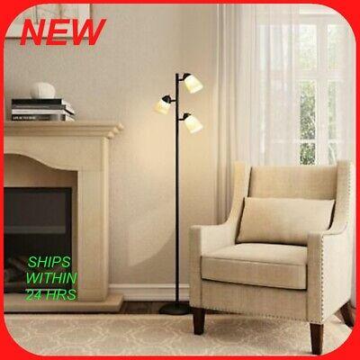 Af Lighting Modern Floor Lamp - Hampton Bay 3-Light Floor Lamp, black  R2