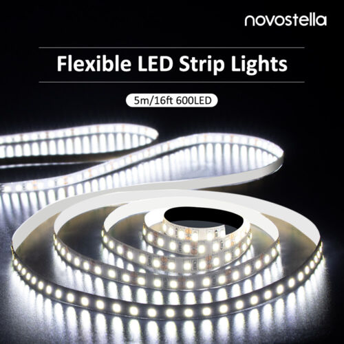 Ustellar Dimmable 600 LED SMD 2835 Light Strip Kit with Powe