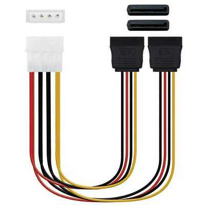 NANOCABLE 10.19.0101-OEM Cable de Alimentación IDE Molex 4 Pin/M a 2 SATA/H...