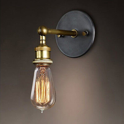 Retro Wandleuchte Tütenlampe Edison Metall Lampe Vintage Industrie Loft Design  (Edison Lampe Leuchte)