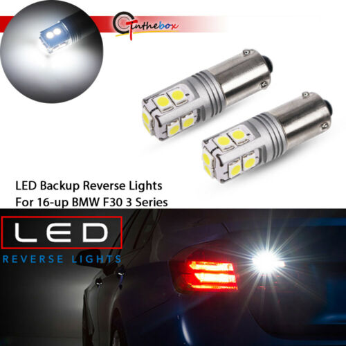 2x Error Free White Bay9s H21W 64136  LED Bulbs For VW CC Backup Lights  12V