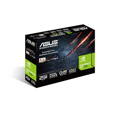 ASUS NVIDIA GeForce GT 710 2 GB Graphics Card VGA/DVI/HDMI 710-2-SL-BRK