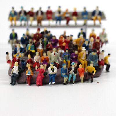 P8711 60 Pcs Ho Scale 1 87 All Seated People Sitting Figures Scenery Passengers