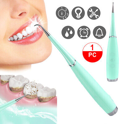 Sonic Teeth Whitening Tool Electric Polisher Tartar Plaque Stain Remover Blue US Plaque Removal Teeth