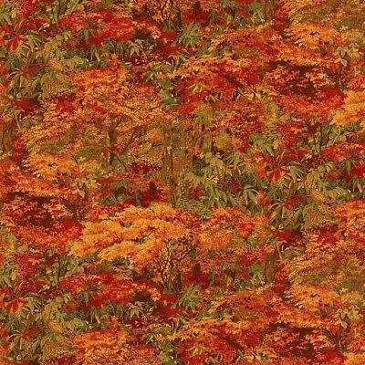 Floral Fabric - Naturescapes Abundant Garden Autumn Fall Leaf - Northcott YARD