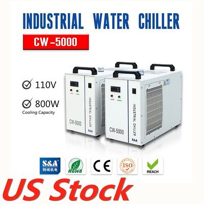 Usa Cw-5000dg Industrial Water Chiller For 80w 100w 120w Laser Tube