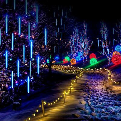 New Year Parties (New Year Party Decor LED Meteor Shower Lights 30/50cm Waterproof Falling Rain)
