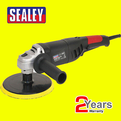 Sealey Polisher Buffer 180mm 1100W 240V Variable Speed Lightweight ER1700P