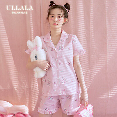 Esther Bunny X Ullala Women Pink Pajama Set Short Sleeves Pants EstherLovesYou