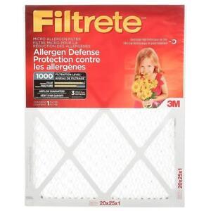 NEW Filtrete MPR 1000 20x25x1 Micro Allergen Defense Pleated Condition: New