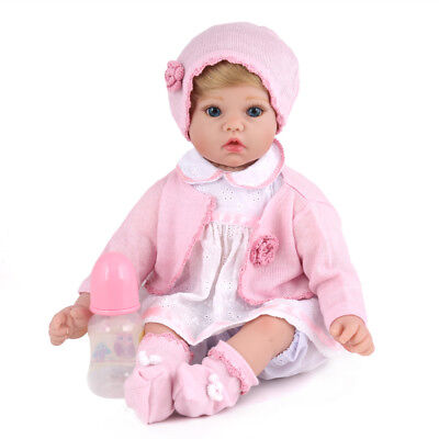 """20"""" Reborn Dolls Baby Girl Newborn Soft Vinyl Silicone Doll+Clothes Birth Gifts, used for sale  Shipping to Canada"""