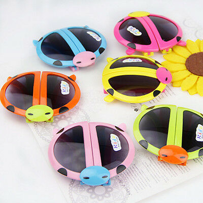 Novelty Baby Kids Boys Girls Foldable Cute ladybug UV400 Sunglasses Goggles Gift