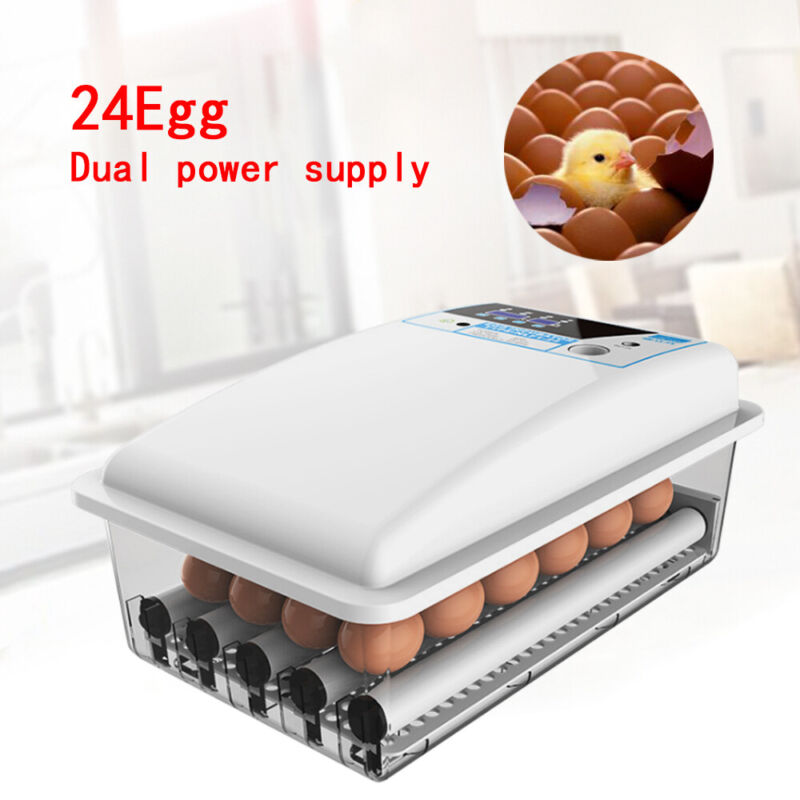 Auto-Turning Digital 24 Eggs Incubator Automatic Chicken Quail Duck Eggs Hatcher