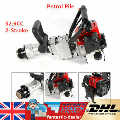 900W 2 Stroke T-Post Petrol Pile Rammer Fence Post Driver Farm Fencing Tool NEW