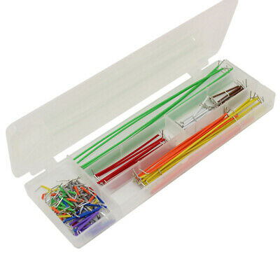 Solderless Breadboard Wire Jumper Cable Kit Box 140 Piece