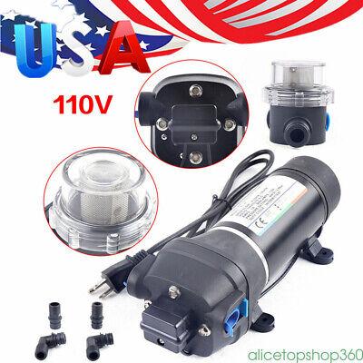 Water Pump 40psi Self Priming Pump Diaphragm High Pressure Auto Switch 110v Usa