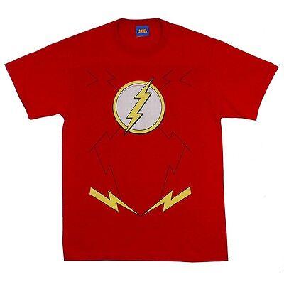 Flash Symbol Kostüm Dc Comics die Neu 52 Lizenziert Erwachsenen - Flash T Shirt Kostüm