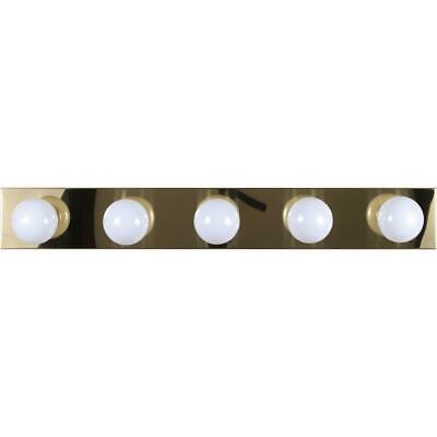 - Volume Lighting 5-Light Polished Brass Bathroom Vanity, Polished Brass - V1025-2