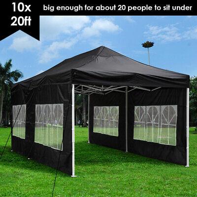 10x20ft Pop Up Canopy Instant Folding Gazebo Patio Outdoor