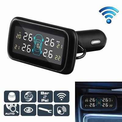 TPMS Wireless Tyre Pressure Monitoring System+4 External Sensor for Car Auto UK