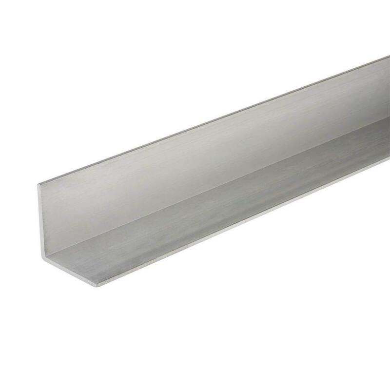1-1/2 in. x 96 in. Corrosion Resistant Solid Aluminum Angle 1/16 in. Thick