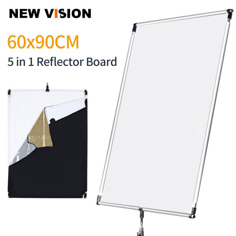 60 * 90cm 27in * 35in Sun Scrim Large 5in1 Reflector Aluminum Alloy Frame