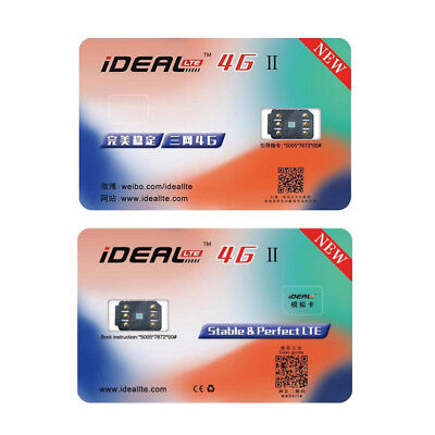 Ideal Ii Unlock Turbo Sim Card For Iphone X 8 7 6S 6 Plus   5S Se 5 Lte 4G Gpp