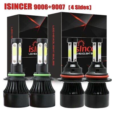 Combo 4side 9007+9006 LED Headlight Fog Bulbs for Dodge Ram 1500 2500 3500 02-15