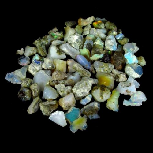 101.00Cts 100% Natural Ethiopian Opal Rough Wholesale Mixed Lots Gemstone