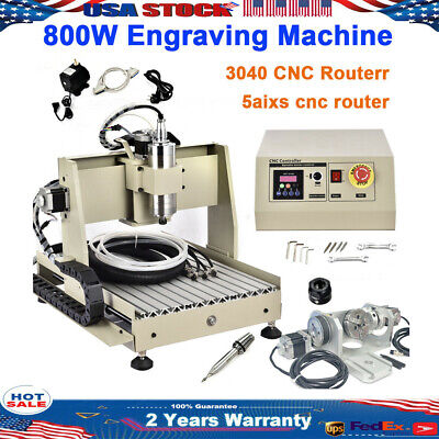 Usb 5 Axis Cnc Router 3040 Engraver 800w Engraving Drilling Milling Machine Diy
