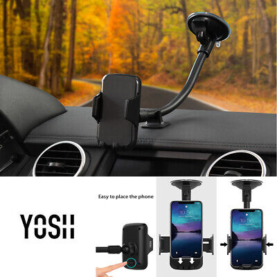 YOSH Rotatable Car Phone Holder Mount Windscreen Suction Cradle For iPhone X 11