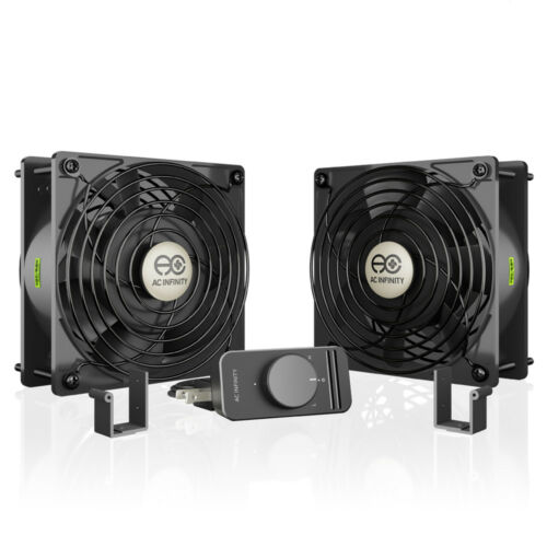 AXIAL S1238D, Dual 120mm Muffin Fan Doorway, Room to Room, Wood Stove, Fireplace