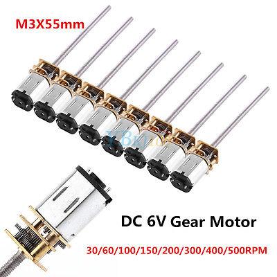 Dc 6v 30-500rpm Long Shaft Mini Micro Metal Gear Motor Reduction Gearmotor Diy
