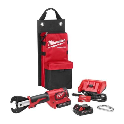 Milwaukee 2678-22 M18 FORCE LOGIC 6T Utility Crimper Kit w/ D3 Grooves Snub Nose