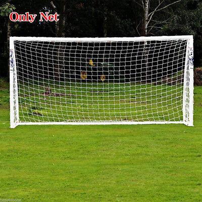 12 x 6FT Full Size Football Net PE Polyethylene Soccer Goal Post Training Match - Foot Ball Goal Post