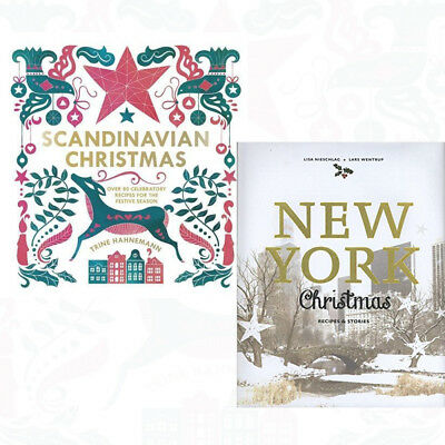 Scandinavian Christmas 2 Books Collection Set New York Christmas Hardcover (Scandinavian Christmas Foods)