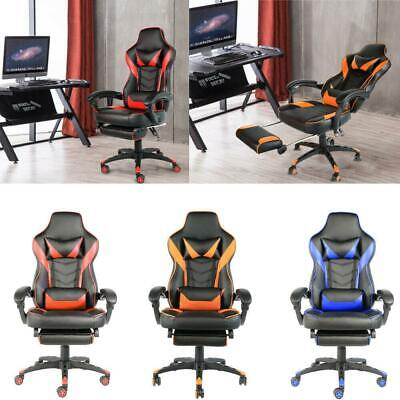 Racing Gaming Chair High Back Chair Ergonomic Design Computer Chair Wfootrest