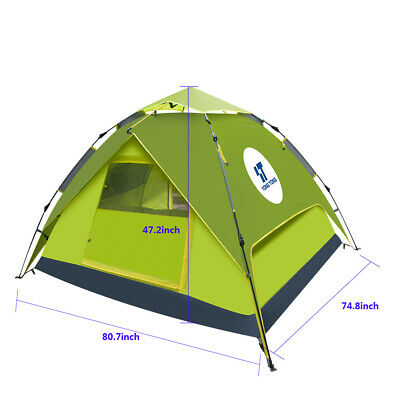 Waterproof Automatic Instant Pop Up Camping Hiking 4-5
