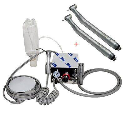 Us Portable Dental Turbine Unit Air Compressor 2fast Speed Handpiece Push 4h