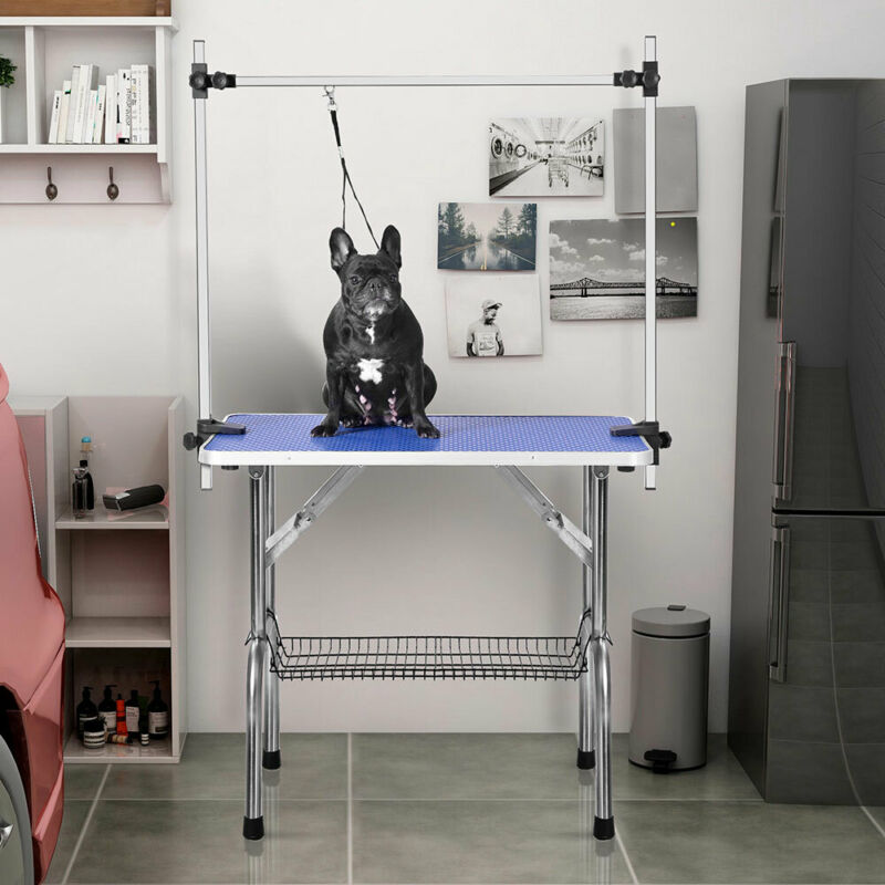 """46"""" Pet Dog Cat Grooming Table Adjustable Arm Noose Heavy Duty Foldable Portable"""